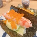 寿司と串とわたくし - ほぼ蟹アボカドマヨ 380円 ほぼ蟹、、、。