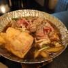 須賀谷温泉 - 料理写真:四角いのが丁字麩。肉、少なくてもいい。