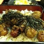 お食事処 雷電 - 焼き鳥丼アップ