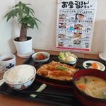 ばぁばのお昼ごはん - 料理写真:エビとじ定食 820円(税込)