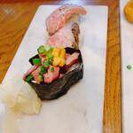 渋谷 道玄坂 肉寿司 - 肉寿司各種