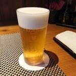 152027700 - 一杯目の生ビール「樽生プレモル」