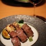 日本食 雅庭 - プリフィックス会席「創」A5和牛ステーキ(80g)と焼き野菜
