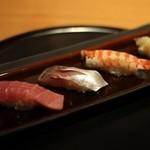 日本食 雅庭 - 季節の鮨会席「華」二の膳・鮨3貫