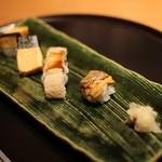 日本食 雅庭 - 季節の鮨会席「華」三の膳・鮨3貫