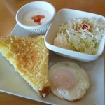 Cafe Place Mu - 2012.10.8 モーニング(アーモンドトースト)