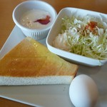 Cafe Place Mu - 2012.10.8 モーニング(トースト はちみつ)