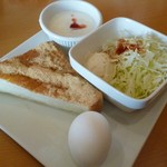 Cafe Place Mu - 2012.10.8 モーニング(きなこトースト)