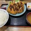 しれとこ食堂 - 料理写真:アジフライとハンバーグフライ定食