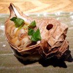 炙屋 - つぶ貝壷焼き(760円)