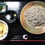 蕎麦一 - もりorかけ+ミニ天丼