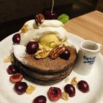 アメリカンチェリー&キャラメルモカパンケーキ