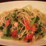15206504 - ツナと小松菜とねぎ ペペロンチーノ スダチ風味♪