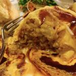 ラケル - KUKU餅もちチーズオムライス(中はドライカレー)