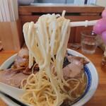 自家製中華そば としおか - 麺