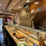 ぎんざまぐろや - 内観は下町の寿司屋といった良い雰囲気です!