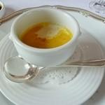 レストラン ラ・マーレ - 三浦かぼちゃの温スープ