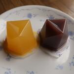 叶匠寿庵 - 濃果汁(清見) 270円 & 水羊羹 328円