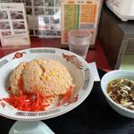 埼玉や - 料理写真:めんたいこチャーハンとスープ