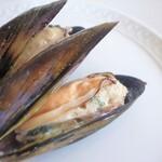 リストランテ ボルゴ・コニシ - ムール貝のティエッラ風