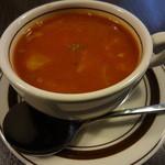 フナバカフェ - セットのスープ(ミネストローネ)