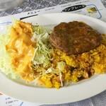 レストランばーく - ドライカレー・ハンバーグ 800円