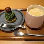 京都 茶寮翠泉 - (2021/5月)お濃い抹茶モンブランと極みコーヒー