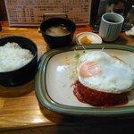 グリル不二軒  - 料理写真:ハンバーグ定食。