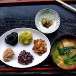 峠の茶屋・最上屋 - ミックス餅 & 山菜汁(2008年5月)