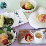日本料理 矼 - 6月季節のミニ会席「あじさい御膳」