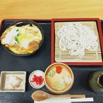 152101894 - カツ丼セット(カツ丼,ざるそば)