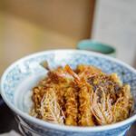 """天松 - """"特製天麩羅飯(とくせいてんどん)""""、小對蝦(さやまき)"""