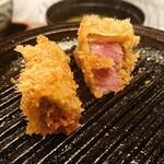 かつ饗 - 牛肉の食感と牛肉の旨味がとても美味しかったです。