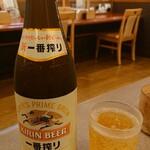 かつ饗 - 瓶ビール