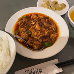152106668 - 芙蓉菜館(葉ニンニク入りマーボ豆腐)
