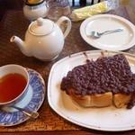 ラディッシュ - 小倉トーストと紅茶
