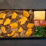 京都 瓢喜 - 2021.5 黒毛和牛雲丹すき焼き折詰弁当(3,000円)
