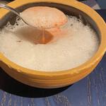 KUFUKU± - ビーツのスープ/塩麹のエスプーマ