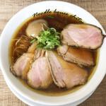 麺庵ちとせ - らぁ麺 煮玉子叉焼(1300円)