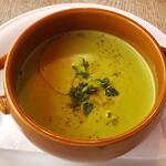 ボッチデビッラ - グリーンピースのあったいかスープ
