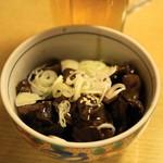 しげきん - 2012.10 砂肝ソース煮(320円)