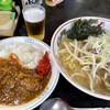 茅橋らーめん - 料理写真:Aセット(らーめん+半カレー)塩ラーメン、細麺
