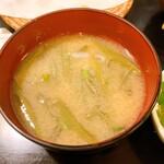 男鹿半島 - 料理写真:じゅんさいの味噌汁最高。