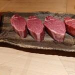 152143341 - 本日の肉 47ケ月の特産松阪牛雌と37ケ月の神戸牛雌A5BMS12