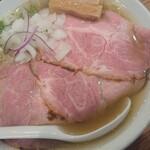 中華そば ココカラサキエ - のどくろ塩ラーメン(大盛) 1000円