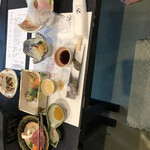 銘石の宿 かげつ - 料理写真:夕食全景