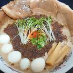 152174496 - 秋刀魚だくラーメン♪(オミヤ麺)