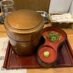 自家製麺 竜葵 - ひつまぶしから配膳