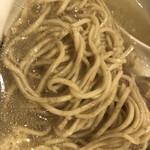 真鯛らーめん 麺魚 - 全粒粉の麺