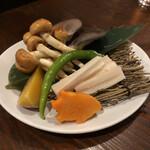 山小屋酒場 ケモノ - ジンギスカンに付いてきた野菜セット